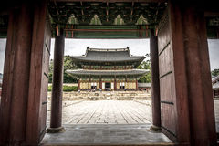 Palace in Seoul. Deoksu Palace in Seoul, South Korea, that was inhabited by members of Korea's royal family during the Joseon monarchy. Seokeodang is a two story Royalty Free Stock Photo