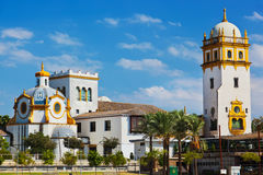Palace in Seville Spain. Nature and architecture background Royalty Free Stock Photography