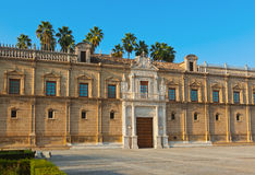 Palace in Seville Spain. Nature and architecture background Stock Image