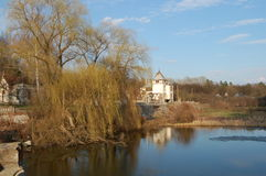 Palace Sharovka, lake with a reflectio Royalty Free Stock Image