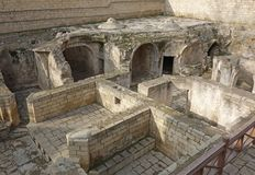 Palace Shirvanshah, Ruins of bathhouse in the old town Icheri Sheher of Baku, Azerbaijan. royalty free stock photo
