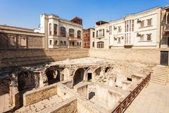 Shirvanshahs Palace in Baku. The Palace of the Shirvanshahs is a 15th-century palace built by the Shirvanshahs, located in the Old City of Baku, Azerbaijan royalty free stock photo