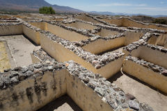 Palace of the Six Patios in Yagul. Labyrinth in the Palace of the Six Patios in Yagul, Oaxaca, Mexico Stock Image