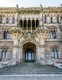 Palace of Sobrellano and church from Comillas, Spain Royalty Free Stock Photos