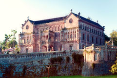 Palace Sobrellano, Comillas, Cantabria, Spine Royalty Free Stock Photography