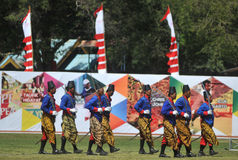 The palace soldiers appeared in the art parade Stock Photography