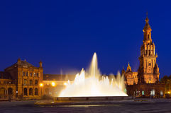 Palace at Spanish Square in Sevilla Spain Royalty Free Stock Photography