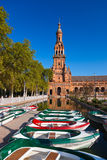 Palace at Spanish Square in Sevilla Spain Royalty Free Stock Image