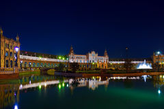Palace at Spanish Square in Sevilla Spain Stock Photography