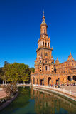 Palace at Spanish Square in Sevilla Spain Stock Images