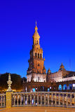 Palace at Spanish Square in Sevilla Spain Stock Image