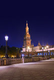 Palace at Spanish Square in Sevilla Spain Royalty Free Stock Photo