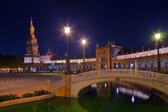 Palace at Spanish Square in Sevilla Spain Stock Photos