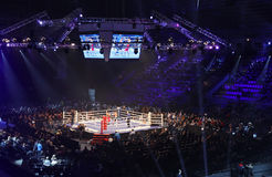 Palace of Sports in Kyiv during Evening of Boxing Royalty Free Stock Photo