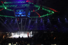 Palace of Sports in Kyiv during Evening of Boxing Stock Image