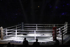 Palace of Sports in Kyiv during Evening of Boxing Stock Images