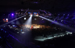 Palace of Sports in Kyiv during Evening of Boxing Stock Photo