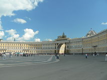 Palace Square. Winter Palace Square in St. Petersburg, Russia stock images