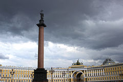 Palace Square and the Alexander Column in St. Petersburg Royalty Free Stock Images