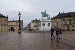 Palace Square Amalienborg Castle, Copenhagen Royalty Free Stock Image