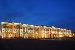 Palace Square, Hermitage museum in evening Stock Photography