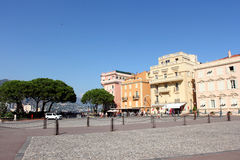 Palace square in Monaco-Ville, Monaco Royalty Free Stock Photography