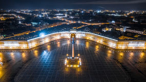 Palace Square in Saint Petersburg Aerial View Stock Photography