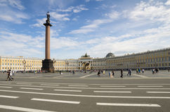 Palace Square in Saint-Petersburg Stock Image