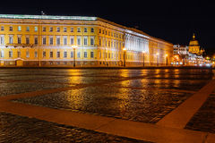 Palace square in Saint Petersburg at night Royalty Free Stock Image