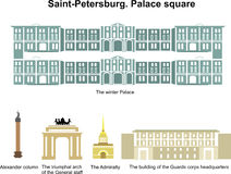 Palace square. Saint-Petersburg Royalty Free Stock Image