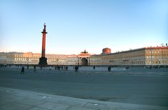 The Palace Square in Saint Petersburg ,Russia Royalty Free Stock Photography