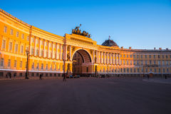 Palace square in Saint Petersburg Royalty Free Stock Image