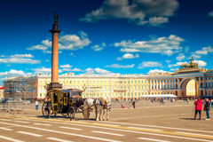 Palace square in Saint Petersburg Stock Photos