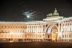 Palace Square in Saint Petersburg, Russia Stock Images