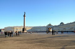 Palace Square in  Saint Petersburg Royalty Free Stock Photo