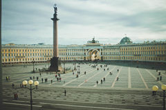 Palace Square. Saint Petersburg. Palace Square.View from The Winter Palace. Saint-Petersburg, Russia Stock Photography