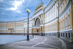 Palace Square in St. Petersburg royalty free stock photo