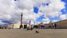 Palace Square in St. Petersburg Stock Photos