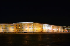 The Palace Square in St.Petersburg at night Royalty Free Stock Photography