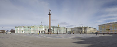 Palace Square in St. Petersburg panoramic view Royalty Free Stock Image