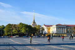 Palace Square in St. Petersburg, Russia Stock Photo