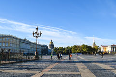 Palace Square in St. Petersburg, Russia Royalty Free Stock Photo