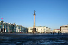 The Palace Square. St.Petersburg, Russia. Royalty Free Stock Photo