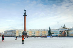 Palace Square in St. Petersburg Russia Stock Image