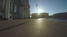 Palace Square in St. Petersburg stock video