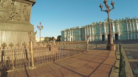 Palace Square in St. Petersburg. RUSSIA, SAINT PETERSBURG, JULY, 2016: Palace Square in St. Petersburg, July 2016 in St Petersburg Russian Federation stock video footage