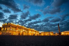 Palace Square, St. Petersburg, Russia. royalty free stock photo