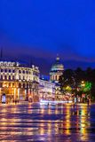 Palace Square in St. Petersburg (view of St. Isaac's Cathedral) Stock Photography