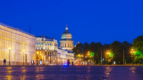 Palace Square in St. Petersburg (view of St. Isaac's Cathedral) Royalty Free Stock Photo
