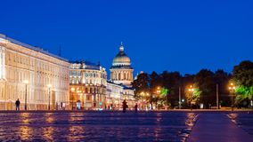 Palace Square in St. Petersburg (view of St. Isaac's Cathedral) Royalty Free Stock Photos